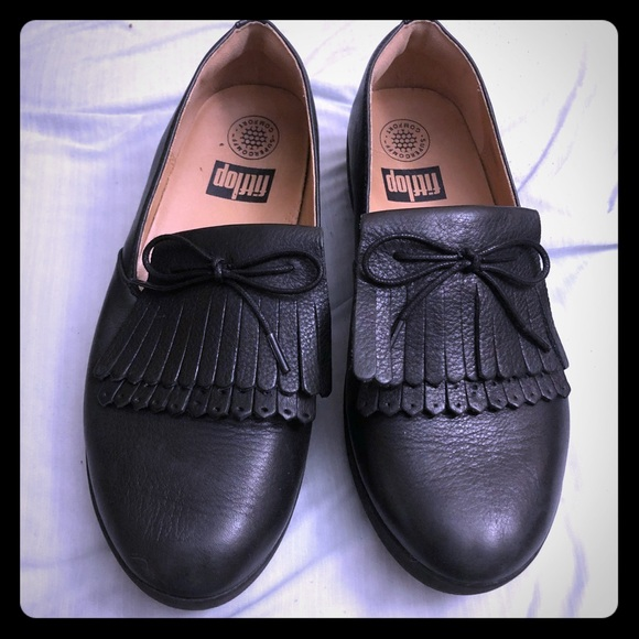 aba892c2e6c Fitflop Shoes - Fitflop Black superskate fringe loafer